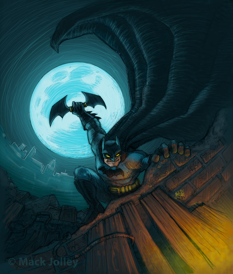 Batman Cover for Retro Video Game Magazine